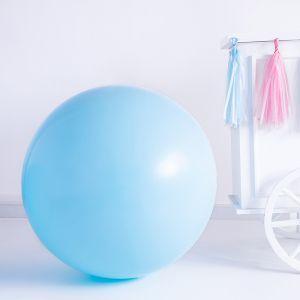 Pastel ballon blauw (1m)