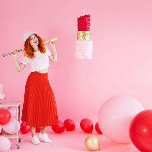 Pastel ballon roze (1m)