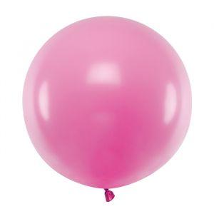 Pastel ballon fuchsia (60cm)