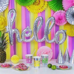 Folieballon Hello holografisch
