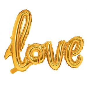 Folieballon Love goud (73cm) product