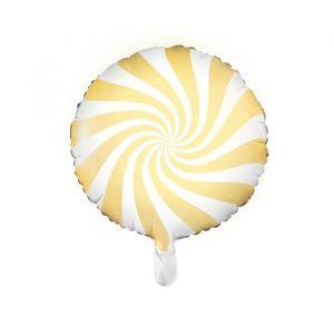 Folieballon Candy lichtgeel (45cm)