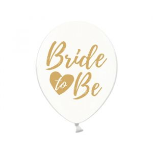 Transparante ballonnen Bride To Be goud (6st)