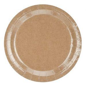 Papieren borden Kraft (6st)