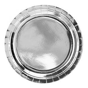 Papieren borden Zilver (6st)