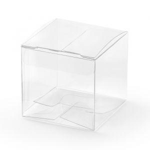 Bedankdoosjes vierkant Transparant (10st)