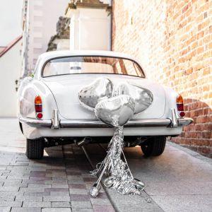 Auto Decoratiepakket Hartjes zilver