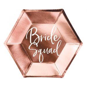 Bordjes Bride Squad (6st) roségoud