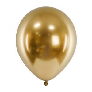 Glossy chroom ballonnen goud (50st)