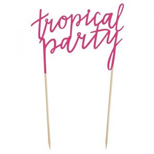 Tropical Party taarttopper Aloha Collectie