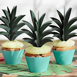 Cupcake toppers ananas Aloha Collectie (6st)
