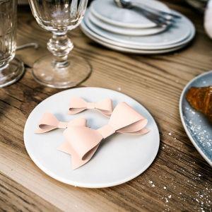 Decoratie strikken klein roze Elegant Bliss (6st)