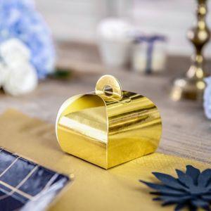 Bedankdoosjes goudfolie (10st)
