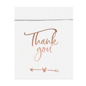Uitdeelzakjes Thank You roségoud (6st) sfeer