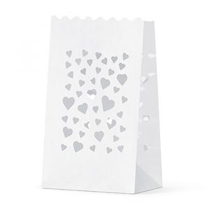 Candle bags hartjes (10st)