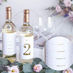 Tafelnummerstickers wijnfles (1 t/m 15) Modern Wedding