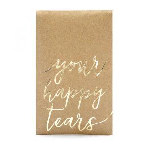 Zakdoekjes Happy Tears goud (10st)