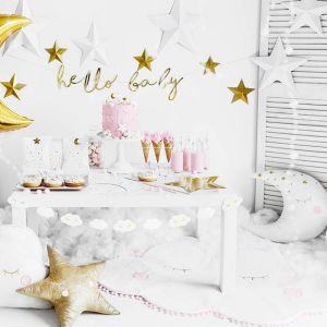 Decoratie sterren wit (6st)