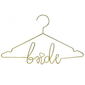 Metalen kledinghanger goud Bride Modern Wedding