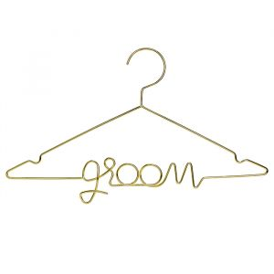 Metalen kledinghanger goud Groom Modern Wedding