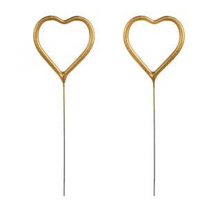 Sterretjes hartje goud (2st)