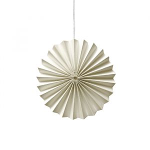 Ornamenten paper fans off white (10st) Delight Department
