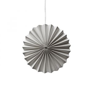 Ornamenten paper fans grijs (10st) Delight Department