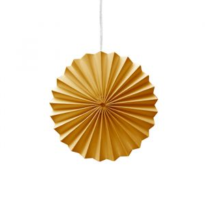 Ornamenten paper fans geel (10st) Delight Department