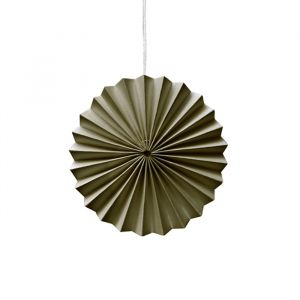 Ornamenten paper fans mosgroen (10st) Delight Department