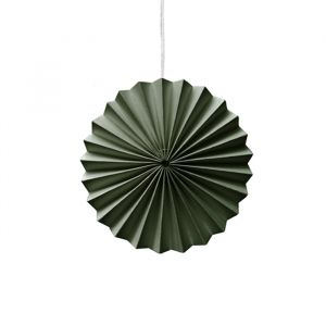 Ornamenten paper fans groen (10st) Delight Department