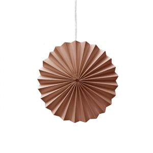 Ornamenten paper fans blush (10st) Delight Department