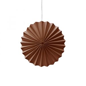 Ornamenten paper fans bruin (10st) Delight Department