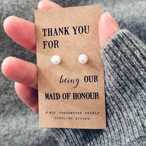Thank you maid of honour parel oorbellen