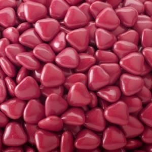 Mini chocoladehartjes 1kg Donkerrood
