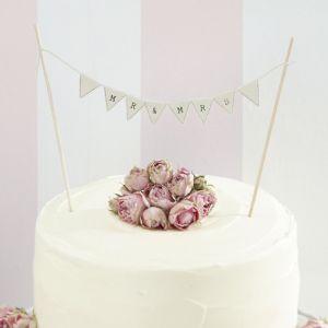 Mr & Mrs cake topper Ivoor Ginger Ray