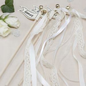 Vintage wedding wands (10st) Ivoor Ginger Ray