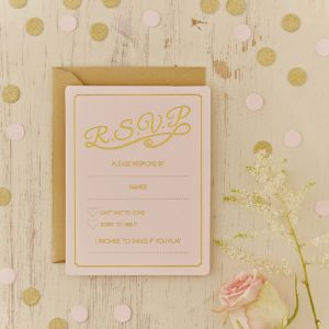 RSVP Kaarten Pastel Perfection (10st) Lichtroze Ginger Ray