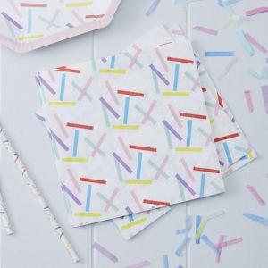 Servetten confetti Pick & Mix (20st) Ginger Ray