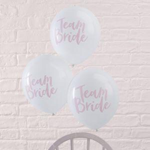 Team bride ballonnen roze-wit (10st) Ginger Ray