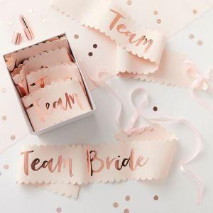 Team bride sjerpen roze-roségoud (6st) Ginger Ray