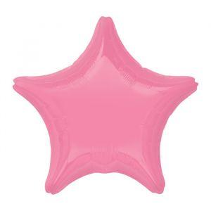 Folieballon ster roze (48cm)