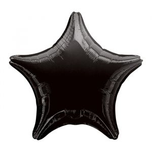 Folieballon ster zwart (48cm)