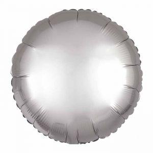 Folieballon Satin Luxe cirkel zilver (43cm)