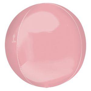 Orbz folieballon pastel roze (40cm)