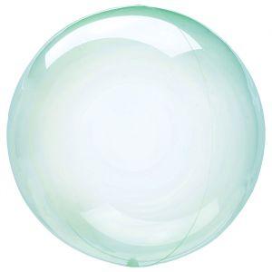 Orbz folieballon Clearz Crystal mint (40cm)