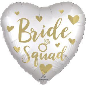 Folieballon Bride Squad satin hart (40cm)