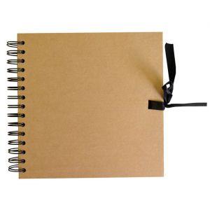 Gastenboek kraft blanco 20 x 20