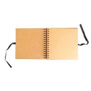 Gastenboek kraft blanco 20x20