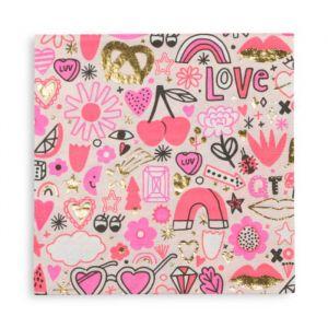 Servetten Love Notes (16st) Daydream Society