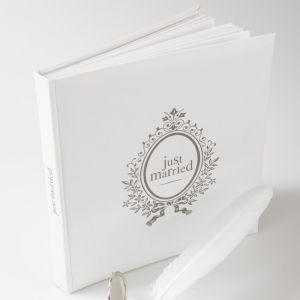 Just Married gastenboek Wit